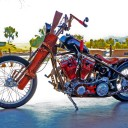 "Riding Shotgun is the Redneck Way to Go!  –  Matt Farris rolls out his ""Resident Redneck"" bike"
