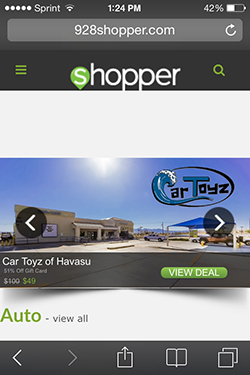 928 Shopper Mobile Site