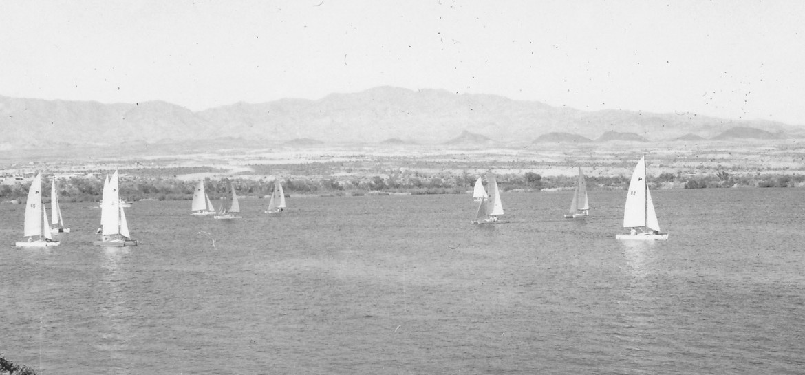 Sailboats were prominent in the 1960s, and McCulloch sponsored the Annual Lake Havasu City Regatta that still survives to this day. Back in May 1965, shortly after the town was established, 16 Pacific Catamarans entered in the race. Lake Havasu held the largest Hobiecat regatta in the history of Hobiecat racing back in 1975. Known back then as the London Bridge Regatta, the event, hosted by the Lake Havasu Yacht Club, holds the all-time record of 408 competitors. Today the event is the Hobie McCulloch Cup, open to all multi-hulled catamaran sailors.